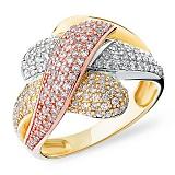 Кольцо из комбинированого золота Многогранность