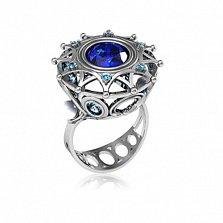 Серебряное кольцо с фианитами Зимняя сказка