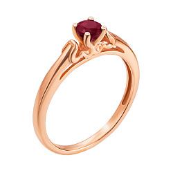 Кольцо из красного золота с рубином 000136919