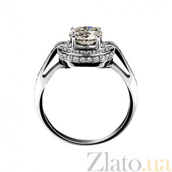 Золотое кольцо с бриллиантами Джастина KBL--К1517/бел/брил