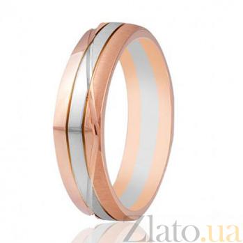Золотое обручальное кольцо Узоры страсти 000001664
