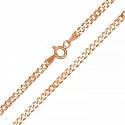 Серебряная цепь с позолотой 000039399