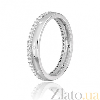 Серебряное кольцо с фианитами Луана 000028076