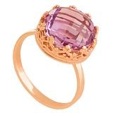 Золотое кольцо Джорджиана с аметистом