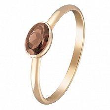 Кольцо в красном золоте Анастасия с раухтопазом