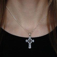 Серебряный крест чернёный  Иисус из Назарета