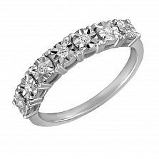 Кольцо Мила из белого золота с бриллиантами