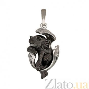 Подвеска Детеныш пантеры из белого золота VLT--Т3485