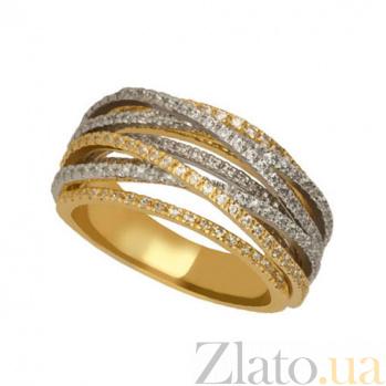 Кольцо из желтого и белого золота Наоми с фианитами VLT--ТТТ1242