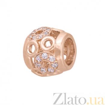 Золотая подвеска Скромность SVA--3101299101/Фианит/Цирконий