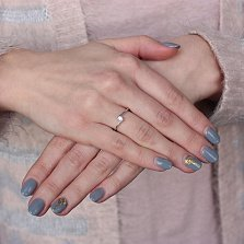Золотое кольцо Дарианна с бриллиантом