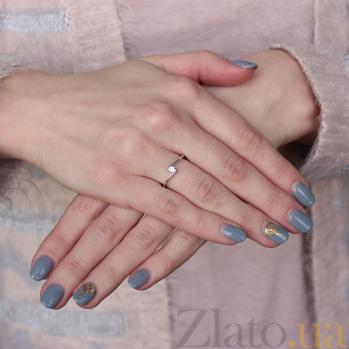 Золотое кольцо Дарианна с бриллиантом 000019696