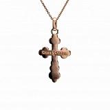 Золотой крестик Святой Покровитель в комбинированном цвете
