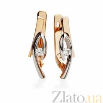 Золотые серьги с бриллиантами Таша 000030547