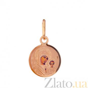 Золотая ладанка Казанская Божья Матерь SUF--422244К