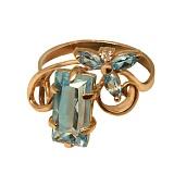 Золотое кольцо с топазами Фридерика