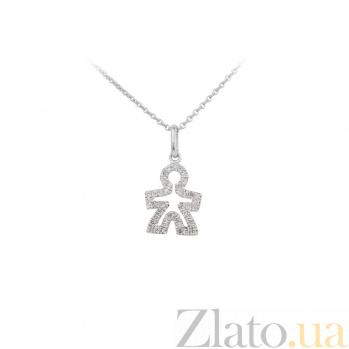 Колье из белого золота с бриллиантами Любимый человек 000032346