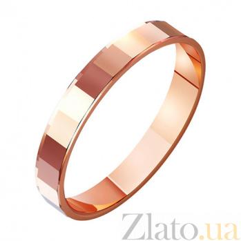 Золотое обручальное кольцо Любовь и лирика TRF--411021