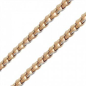 Золотой браслет фантазийного плетения, 7мм 000050602