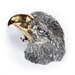Серебряная шкатулка Король птиц с позолотой