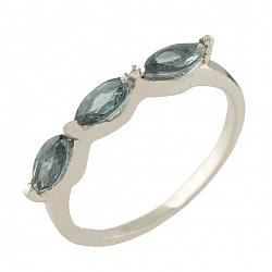 Серебряное кольцо Шарлотта с топазом лондон
