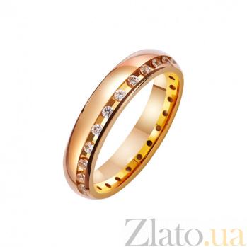 Золотое обручальное кольцо Оберег любви TRF--4121056