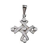 Золотой крестик с бриллиантами Зара