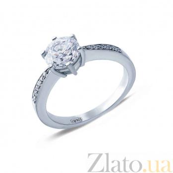 Серебряное кольцо на помолвку Принцесса AQA--HR-0044_akv