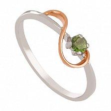 Золотое кольцо с хризолитом Юнона