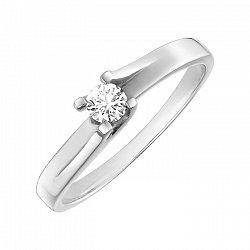 Кольцо в белом золоте Ксения с бриллиантом