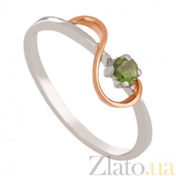 Золотое кольцо с хризолитом Юнона VLN--112-505-6