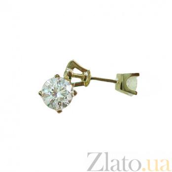 Серьги из желтого золота с кристаллами Swarovski Банни 2С171-0169