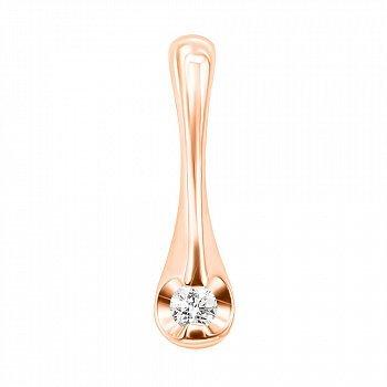 Кулон із червоного золота з діамантом 000131493
