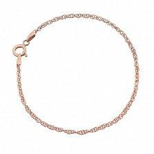 Серебряный браслет Монреаль с позолотой, 18 см