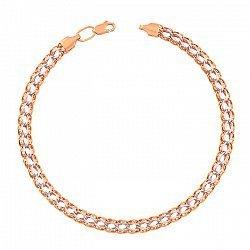 Золотой браслет в комбинированном цвете 000113454