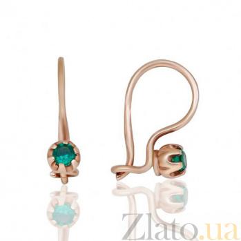 Серьги с зелёным цирконием Лидс EDM--С0336З