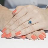 Кольцо в белом золоте Мелани с голубым топазом
