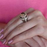 Кольцо из золота и серебра Сусанна с кварцем и цирконием