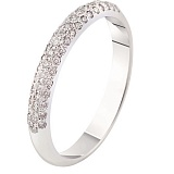 Кольцо из белого золота с бриллиантами Стиль