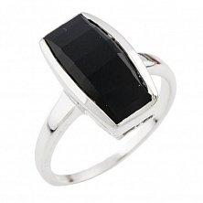 Серебряное кольцо Патриция с черным ониксом