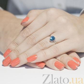 Кольцо в белом золоте Мелани с голубым топазом SVA--1190705102/Топаз голубой/Топаз голубой