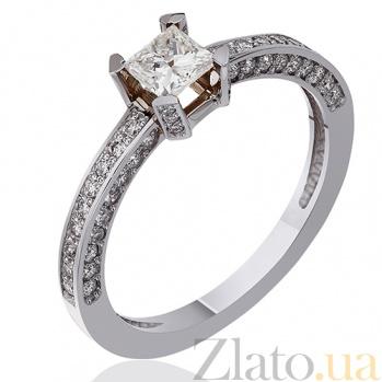 Кольцо из белого золота с бриллиантами Мэриен EDM--КД7494/1ПР