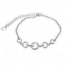 Серебряный браслет Доминика с кристаллами циркония