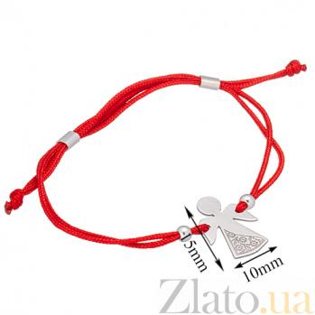 Шелковый браслет Ангел-вышиванка с серебряной вставкой Ангел-вышиванка