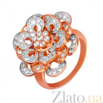 Кольцо из красного и белого золота Астра с фианитами VLT--ТТ152-2