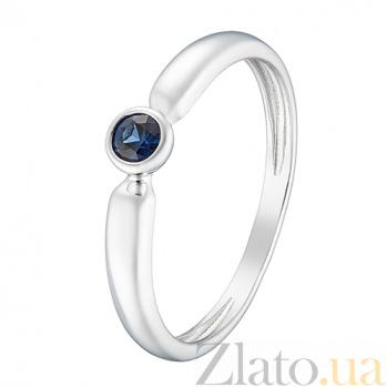 Кольцо в белом золоте Надежда с сапфиром 000044951