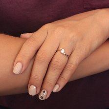 Серебряное кольцо Серенада с цирконием
