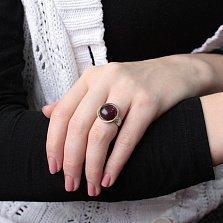 Серебряное кольцо Амалия с золотыми накладками и улекситом