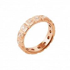 Обручальное кольцо в красном золоте Моя жизнь с бриллиантами