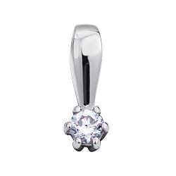 Золотой кулон Согдиана в белом цвете с бриллиантом